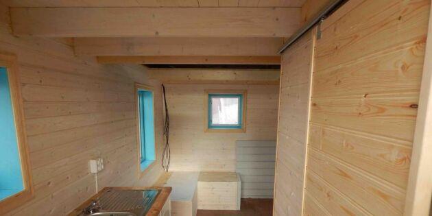 Första tinyhuset klart — har allt du behöver på 13 kvadrat