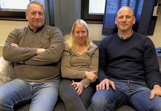 UF-lärarna på Lillerud: Per Mogren, Chriss Mellgren och Marcus Bäckström.