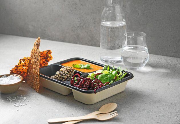 Rottneros har utvecklat ett livsmedelstråg för färskmat och takeaway och bygger nu en ny tillverkningslinje för det i Sunne.