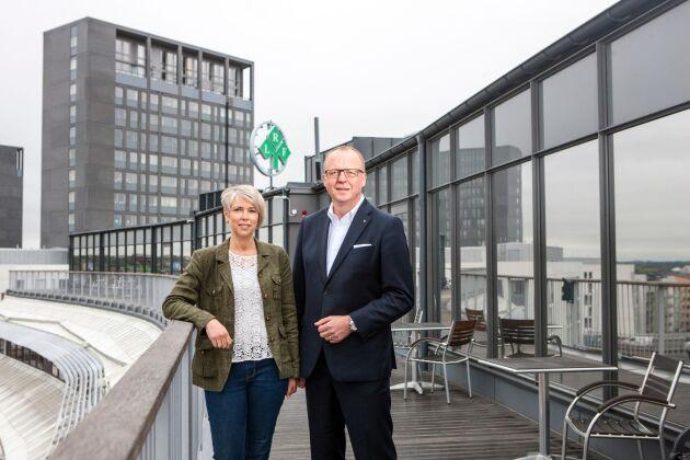 LRF:s ordförande, Helena Jonsson och LRF:s vd Anders Källström.