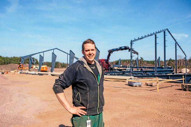 Kycklingproducenten Olof Boson, 34 fickAnders Walls landsbygdsstipendium 2018.