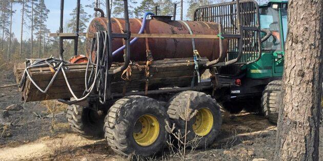 Vattentank på skotaren oslagbar vid brand