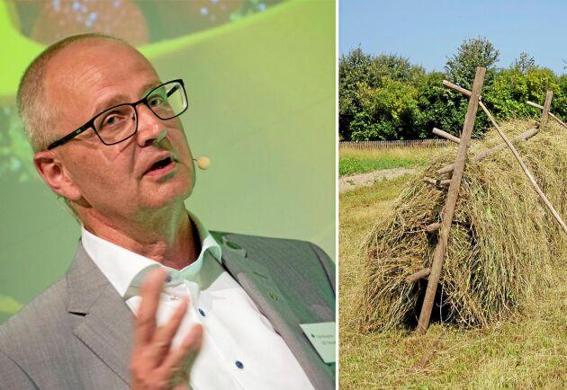 Palle Borgström, ordförande i LRF, menar att det kommer ta lantbruket och Sverige flera år att återhämta sig från torkan.