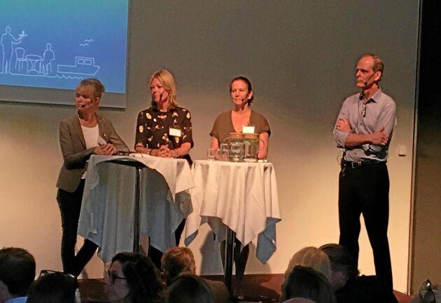 Elisabeth Rytter, Livsmedelsföretagen, Karin Brynell, Svensk Dagligvaruhandel, Lena Åsheim, LRF och Per Arfvidsson, Lantmännen.