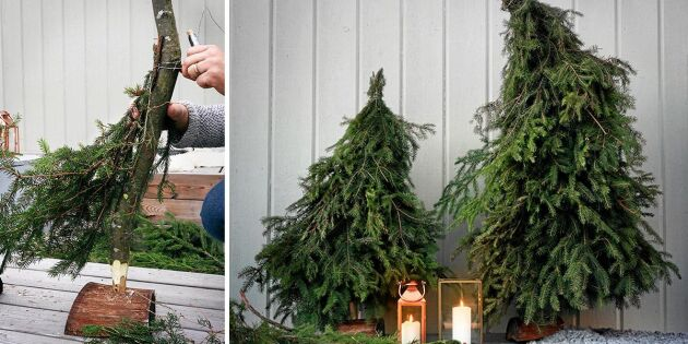 Bygg en egen julgran av överblivna kvistar
