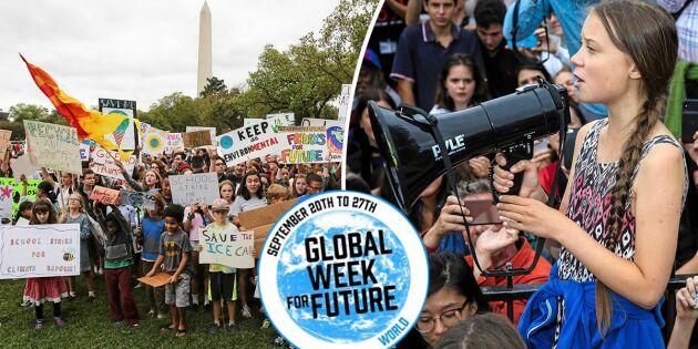 Gretas klimatkamp fortsätter – rekordstor global strejk väntas under fredagen