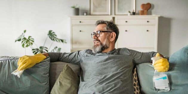 8 smarta städknep för vardagsrummet