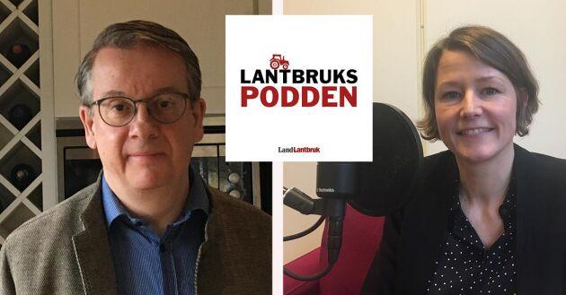 Richard Tellström, måltidsforskare och Frida Jonson, Agfo, gästar Lantbrukspodden och pratar trender i mat såväl som framtidens mat.