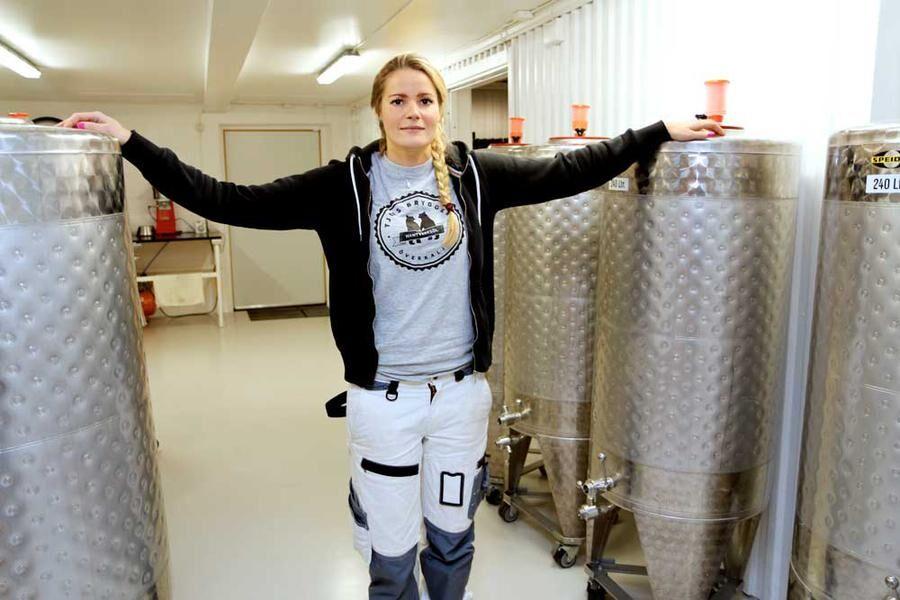 """Frida är Sveriges enda kvinnliga bryggeriägare. """"Jag hoppas jag kan bana vägen för fler kvinnor."""""""