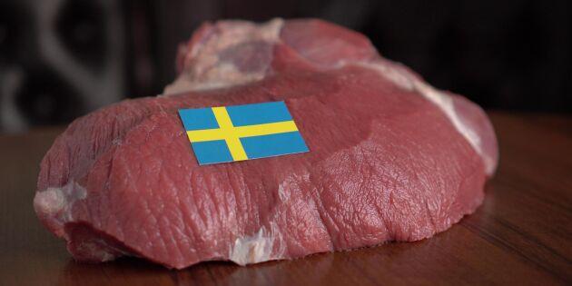 Högsta marknadsandelen för svenskt kött på 15 år