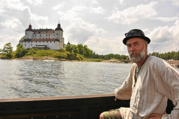 På den sjunde vandringsdagen är Lars framme vid Läckö Slott vid Vänerns södra strand.
