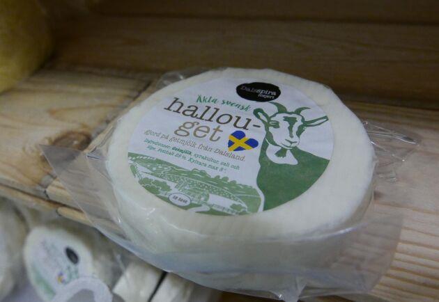 Halloumi på getmjölk är en av Dalsspiras produkter.