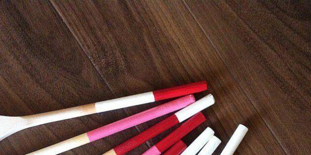 Pigga upp billiga köksvertyg med färg