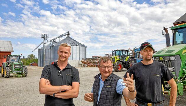 Gustav Anzén, Per Nilsson och Peter Berglund.