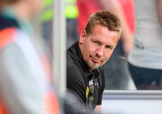 Jörgen Martinsson, vd Svensk Mink. Bilden är från Jörgen Martinssons tid som klubbchef för fotbollsklubben Mjällby.