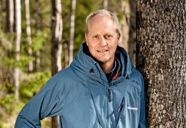 Sören Petersson, affärsområdeschef för Holmen skog.