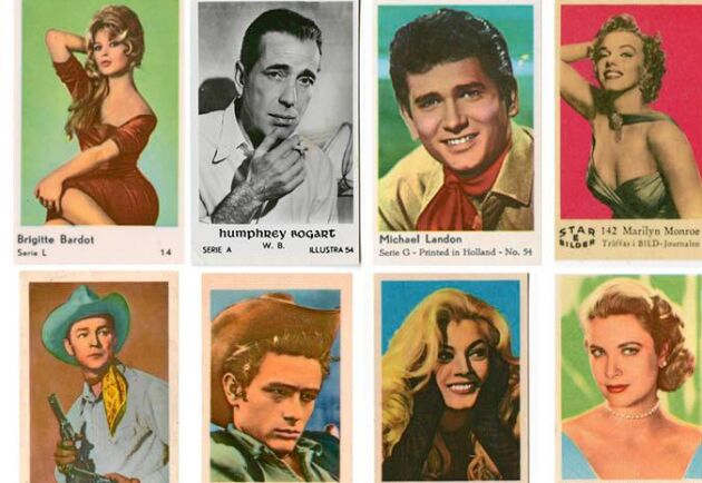 Brigitte Bardot, Humphrey Bogart och James Dean … filmstjärnor värda att samla på.
