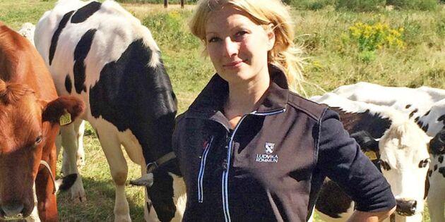 Ovanlig lösning! 28-åriga Ann är kommunens egen bonde!