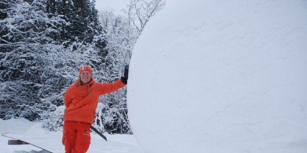 Annorlunda semesterboende: Övernatta i en snöboll