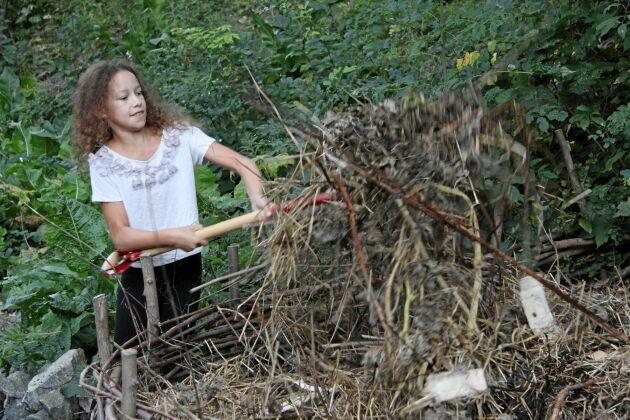 Låt bli att gräva om komposten så minskar du koldioxidutsläpp.