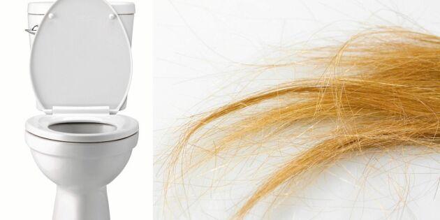 Därför ska du aldrig spola ned hår i toaletten