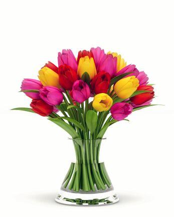 En riktigt klassisk bukettform visar varje blomma lika mycket.