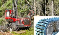 Miljonstöld av skogsmaskinband