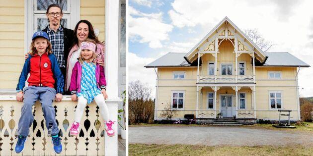 Titta i familjens Höglunds prästgård - full av färg och kreativitet!