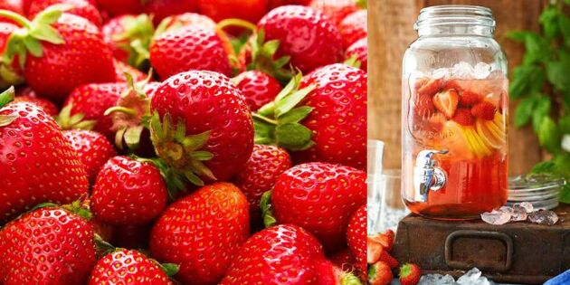 Läskande jordgubbsdricka! Så snabbt och enkel gör du den själv