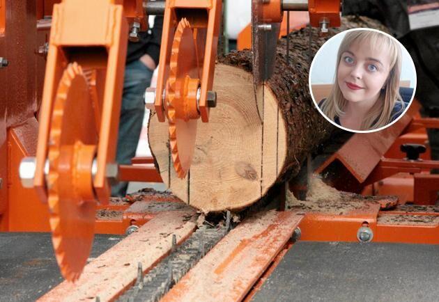 – Vi har som regel att alltid plantera mer än att avverka, säger Anastasija Dokutjajeva, Belarusiska Skogsministeriet.