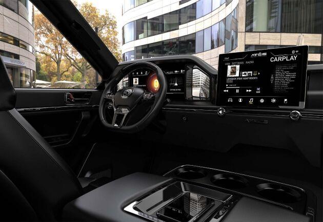 Bilen kommer även ha alla nymodigheter som dagens nya bilar har så som gps, appar, ljudanläggning och annat lullull.