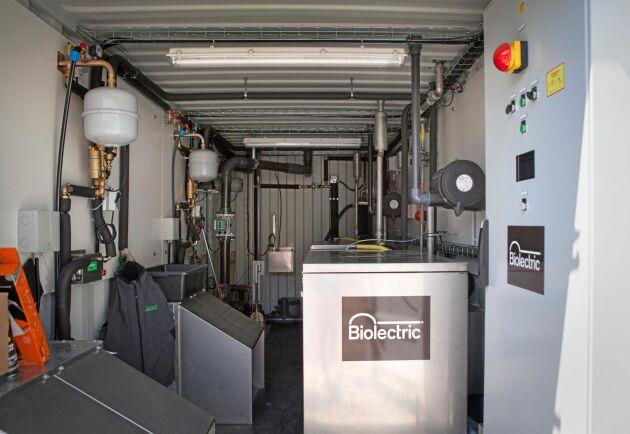 Containern levereras med färdigmonterad utrustning.