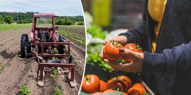 Handla svenskt! Bondens andel av din matpeng minskar