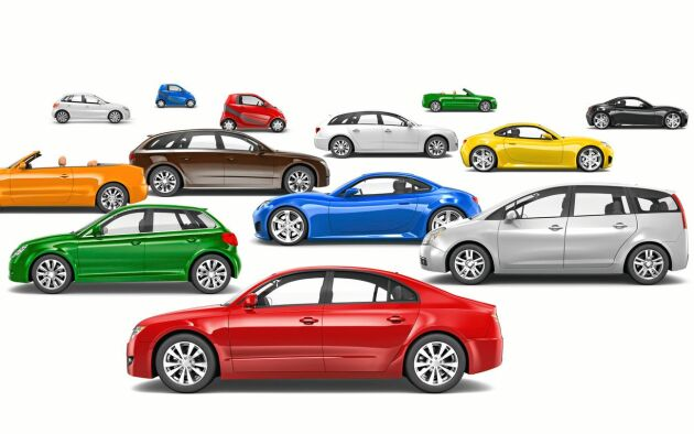 20 begagnade bilar toppar försäljningslistan.