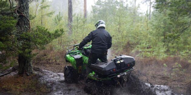 Många bryter mot lagen med fyrhjulingen