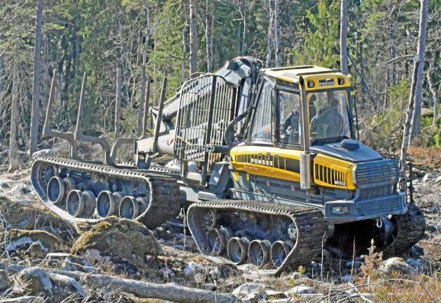 Konceptmaskinen OnTrack har testats av Skogforsk.