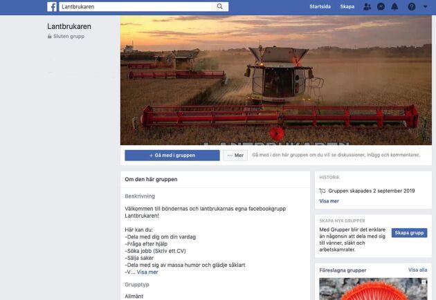 Nu är Facebookgruppen Lantbrukaren på banan igen. Under samma namn och samma ledning.
