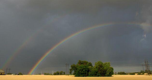 Lokalt regn med åskinslag väntas, men skurarna väntas vara kortvariga.
