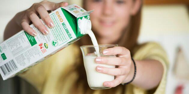 Så mycket mindre mjölk dricker svenskarna