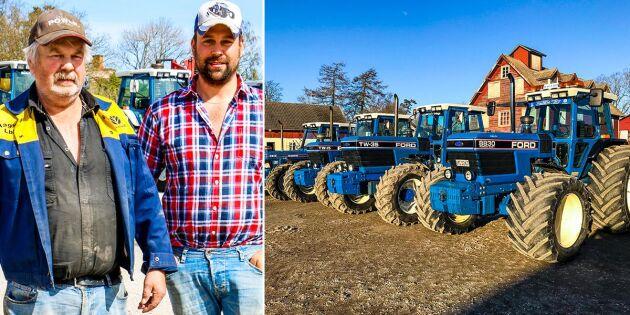 Gården som bara kör blå traktorer