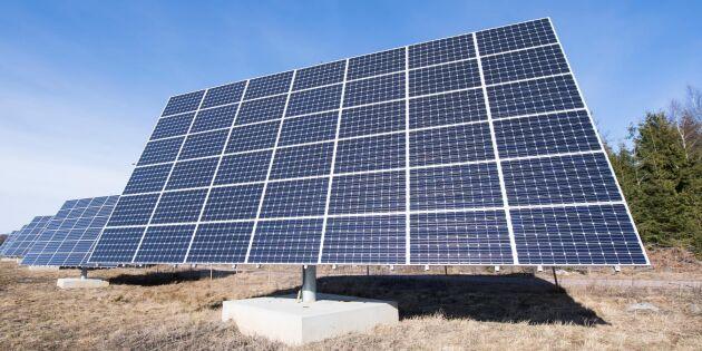 Storstöld av solpaneler