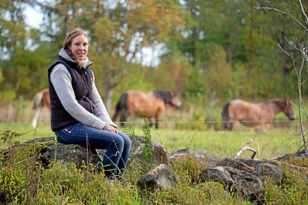 Sara Rosqvist säljer köttlådor med hästkött.