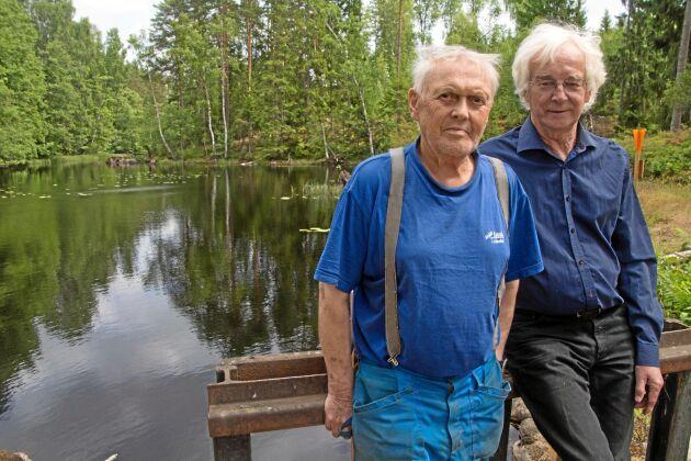 Det finns en färsk dom att länsstyrelsen ska få riva ut dammar i sjön Bergvattnet där fridlysta vita och röda näckrosor växer. Göran Hartman och Ingemar Stenström befarar att en redan grund sjö delvis kommer att torrläggas.