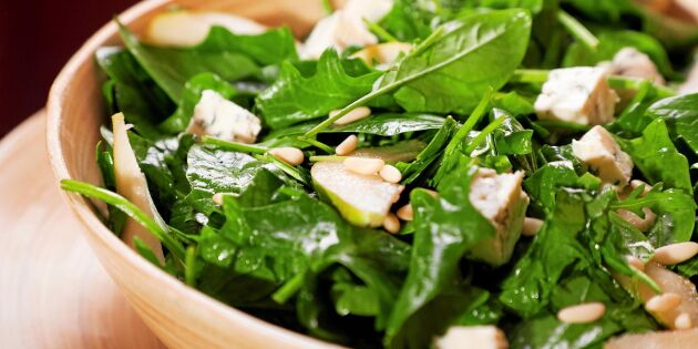 Ät mer spenat och rucola - för din levers skull!