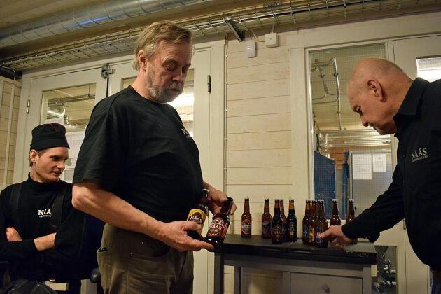 Det har blivit en hel del olika öl genom åren för Nääs Gårdsbryggeri. Emil Jonsson, Gunnar Emanuelsson och Lars Schweitz kommer att ta ram ännu fler under året.
