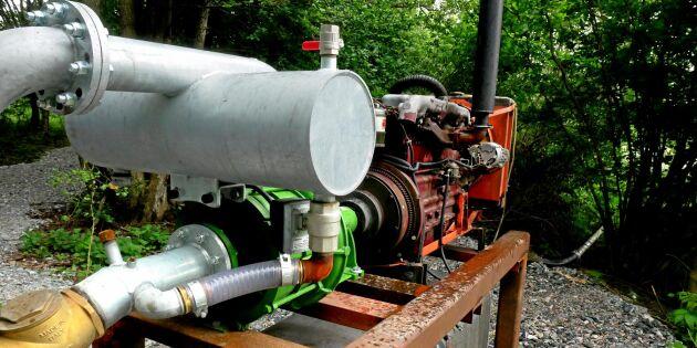 ATL TV: Tröskmotor driver egen vattenpump