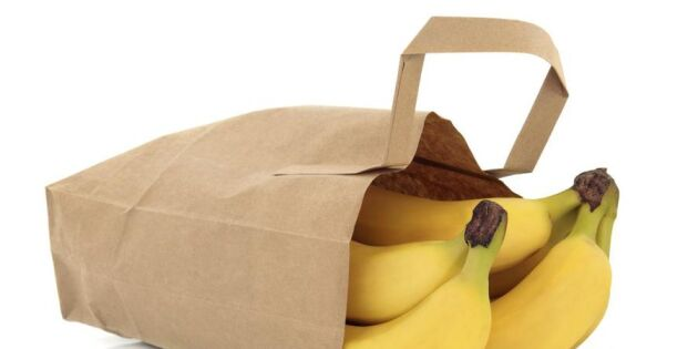 Snabba upp mognaden på bananen med en papperspåse