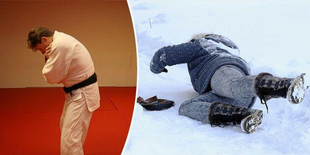 Judoinstruktören visar: Så ramlar du på rätt sätt!