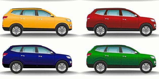 Ny lista: Här är den mest populära bilfärgen i Sverige!