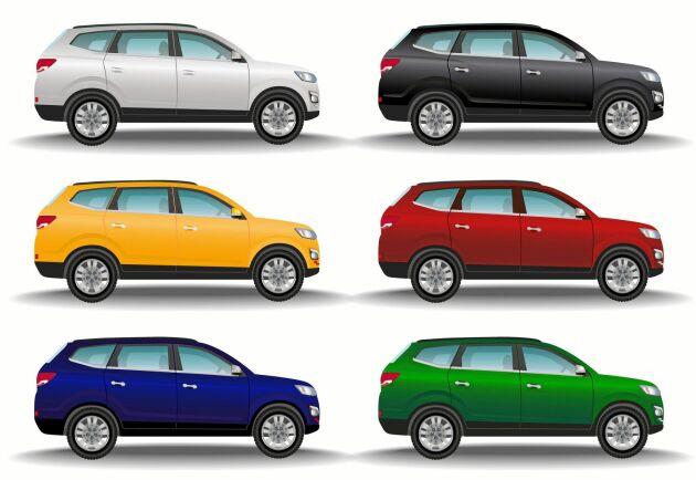 Transportstyrelsen har listat de vanligaste bilfärgerna i Sverige.